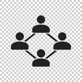 Network vector icon. People connection vector illustration