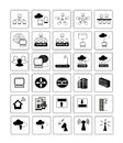 Network web icon symbol collection of Stock Images