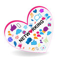 Networking business heart logo