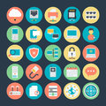 Networking Colored Vector Icons 3 Royalty Free Stock Photo