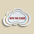 Networking concept for cloud computing and social media Stock Image