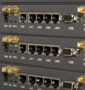 Networking devices WAN, LAN, COM Royalty Free Stock Photo