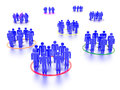 Networking people a concept graphic depicting and social media rendered against a white background with a soft shadow and Royalty Free Stock Images