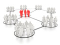 Networking people a concept graphic depicting and social media rendered against a white background with a soft shadow and Stock Photos