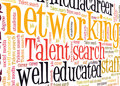 Networking talent search word cloud Stock Image