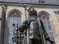 Neues bach denkmal the meaning new monument in leipzig germany Stock Image