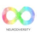 Neurodiversity Symbol. Rainbow Infinity Loop.