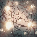 Neuron inside the brain concept of neurons and nervous system Royalty Free Stock Photo