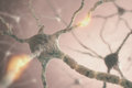 Neurons image concept of from the human brain Stock Photo