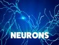 Neurons, synapses, neural network circuit of neurons, brain, degenerative diseases, Parkinson