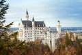 Neuschwanstein castle in autumn time bavaria germany Stock Photography