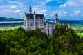 Neuschwanstein castle the in bavaria nearly to munich germany Royalty Free Stock Photography