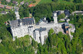 Neuschwanstein castle beautiful aerial view of Royalty Free Stock Photos