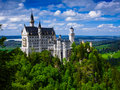 Neuschwanstein castle new swanstone castle the in bavaria nearly to munich germany Royalty Free Stock Images