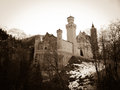 Neuschwanstein castle in rothenburg germany Stock Image