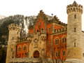 Neuschwanstein castle in rothenburg germany Royalty Free Stock Photos