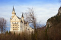 Neuschwanstein castle in winter time bavaria germany Stock Images