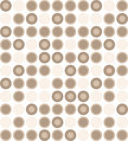 Neutral polka dots pattern illustration Stock Photo