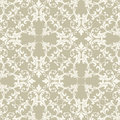 Neutral Taupe Damask Stock Image
