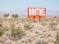 Nevada Brothel sign Royalty Free Stock Photo