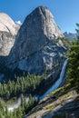 Nevada Fall and Liberty Cap in Yosemite Royalty Free Stock Photo