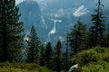 Nevada Fall and Liberty Cap in Yosemite Royalty Free Stock Photo