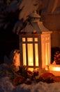 Neve da luz de vela do natal Imagem de Stock