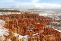 Neve del canyon di Bryce Immagine Stock