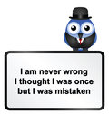 Never wrong comical sign isolated on white background Royalty Free Stock Photos
