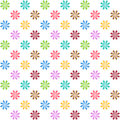 Neverending abstract flower texture seamless colorful pattern on white Royalty Free Stock Photo