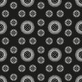 Neverending white ornamental pattern seamless on black background Royalty Free Stock Photography