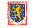 Nevers City Coat of Arms Postage Royalty Free Stock Image