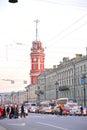 Nevsky Prospect in center of Petersburg.