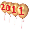 New 2011 Year balloons Royalty Free Stock Photography