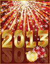 New 2013 year greeting card Royalty Free Stock Photography