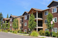 New apartment complex in suburban neighborhood Royalty Free Stock Photography