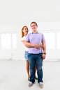 New apartment couple at their empty Royalty Free Stock Photos