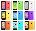 New apple iphone c collection in various colors Stock Photos