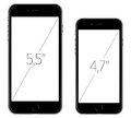 New apple iphone and iphone plus screen dimension arrives september Stock Images