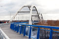 New arch bridge for toruń poland december opening of a over the vistula river the co financed by european union consists of Royalty Free Stock Image