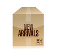 New arrivals box illustration design over a white background Stock Photography