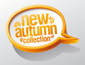 New autumn collection speech bubble. Stock Images