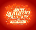 New autumn collections design.