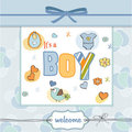 New baby boy arrived Stock Images