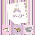 New baby girl shower invitation Royalty Free Stock Photos