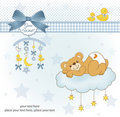 New baby shower card Royalty Free Stock Photo