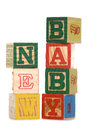 New baby wooden blocks Royalty Free Stock Images