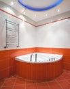 New bathroom in orange colors Royalty Free Stock Photo