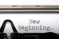 New beginning Royalty Free Stock Photo