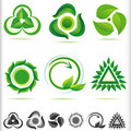New Bio Green ICONs Stock Image